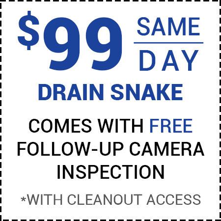 $99 Off Drain Service - Call For Details